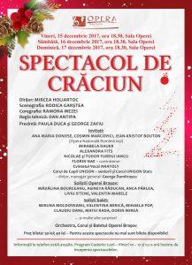 În premieră absolută Opera Brașov prezintă Spectacolul Extraordinar de Crăciun în …trei reprezentații !