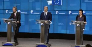 Preşedinţia la Consiliul UE, axată pe patru piloni: Convergenţă, siguranţă, consolidare şi valori/ Ministrul delegat pentru Afaceri Europene, George Ciamba, în conferinţă la Bruxelles