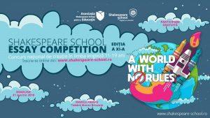 S-a dat START înscrierilor la Shakespeare School Essay Competition – ediția #11!