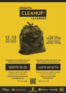 """Cetăţenii, invitaţi să participe la acţiunea """"Cleanup 1 Cariera Őrkő"""
