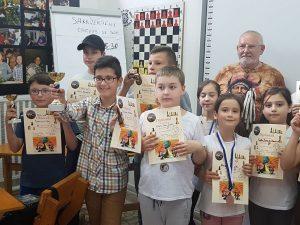 21 de copii din Sfântu Gheorghe au participat ieri la un concurs de șah organizat la Palatul Copiilor