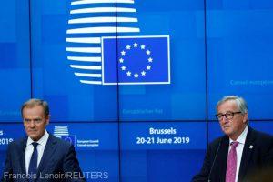"""#Romania2019.eu/ Juncker şi Tusk au salutat, la Bruxelles, preşedinţia """"de succes'' a României la Consiliul UE"""