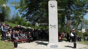 52 de pietre funerare în memoria copiilor din Sfântu Gheorghe ucişi în timpul Holocaustului