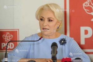 Dăncilă: PSD va merge înainte cu guvernarea; fuga de responsabilitate şi laşitatea nu vor duce România mai departe