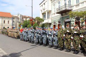75 de ani de la eliberarea oraşului Sfântu Gheorghe de sub ocupaţie străină, marcați prin ceremonii militare și religioase, depuneri de coroane și un simpozion