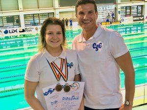 11 medalii ale Asociației Club Sportiv Ciprian la cele 9 competiții internaționale de înot