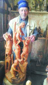 Om cu har: Iacob Borzoș, vâlceleanul în mâinile căruia lemnul prinde viață