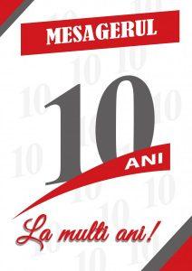 """10 ANI ALĂTURI DE CITITORI    CONCURSUL """"MESAGERUL 10"""" –10 ani, în câte 100 de cuvinte, și-a desemnat câștigătorii"""