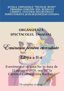 """Spectacol omagial """"Eminescu pentru eternitate"""