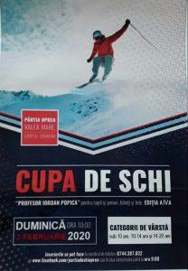 """Cupa de Schi """"Prof. Iordan Popica"""" are loc mâine, pe """"Pârtia de ski Oprea"""