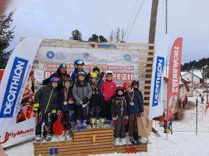 Pe podiumul concursului național de schi de la Vatra Dornei