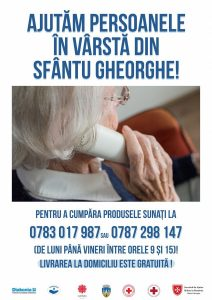 Produsele alimentare de bază și de igienă sunt livrate acasă  Ajutăm persoanele în vârstă din Sfântu Gheorghe