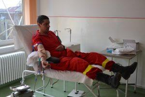 """Pompierii covăsneni s-au implicat în Campania """" Fii salvatorul celor care au nevoie de sânge!!"""""""