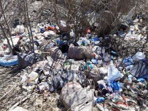 Aproape 6 metri cubi de gunoaie aruncate pe marginea unei străzi din Întorsura Buzăului, de oameni certați cu legea bunului simț