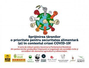 SCRISOARE DESCHISĂ  Sprijinirea țăranilor - o prioritate pentru securitatea alimentară  (și) în contextul crizei COVID-19!