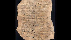 Mesaj al unor deţinuţi politici, scris în 1950, găsit în pereţii Cazinoului de echipa de restaurare