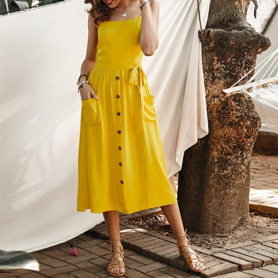 Rochiile de vară galbene sunt noua modă