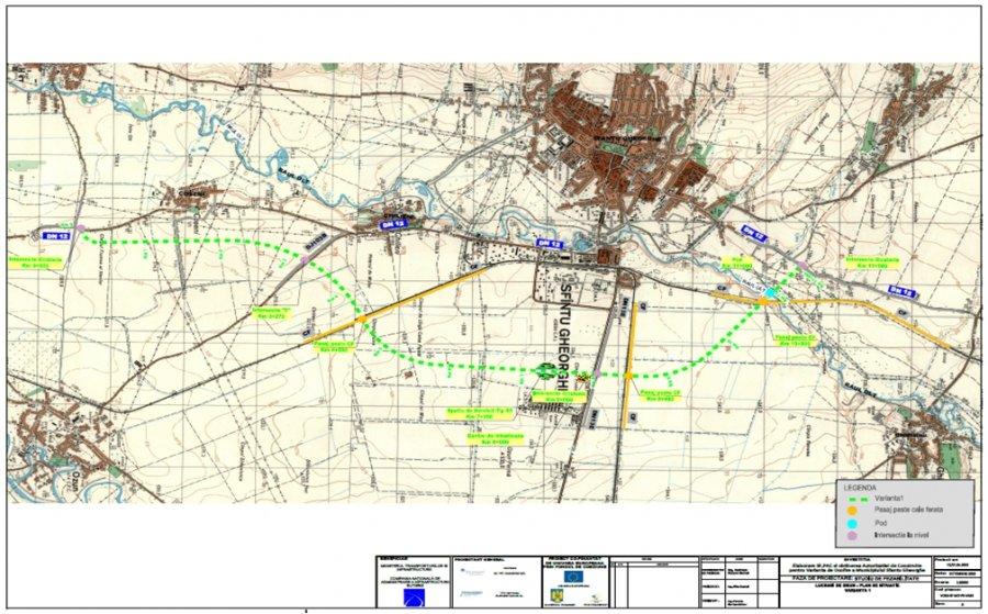 Centura ocolitoare a municipiului Sf.Gheorghe trebuie să fie finalizată până la finalul anului 2023
