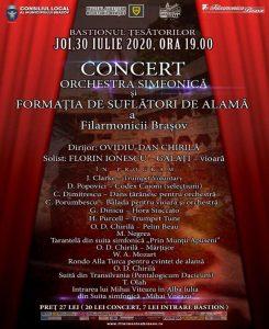 Filarmonica Brașov își încheie în această seară Stagiunea Estivală