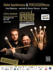 Concertulul LEGENDS, Matei Ioachimescu &PERCUSSIONescu, astăzi, a Centrul de Cultură Arcuș