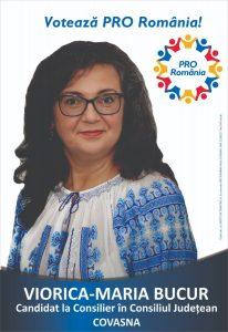 INTERVIU cu VIORICA MARIA BUCUR, candidat al PRO România pentru un mandat de consilier în Consiliul Județean Covasna