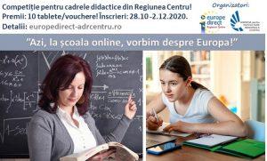 """""""Azi, la școala online, vorbim despre Europa!""""  Competiție cu premii pentru cadrele didactice"""