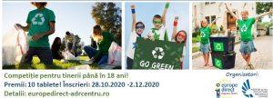 Hai să protejăm mediul!Reciclează, improvizează, distrează-te!  Competiție de creativitate cu premii, pentru educație online