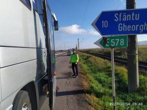 """Operațiunea ROADPOL """"Truck&Bus"""", în județul Covasna"""