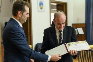 Czegő Zoltán a primit Premiul Pro Urbe din partea Consiliului Local Sfântu Gheorghe