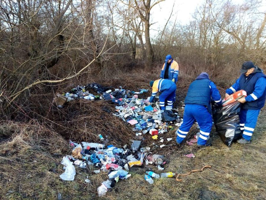 A fost îndepărtată grămada de gunoi depozitată ilegal pe malul Oltului