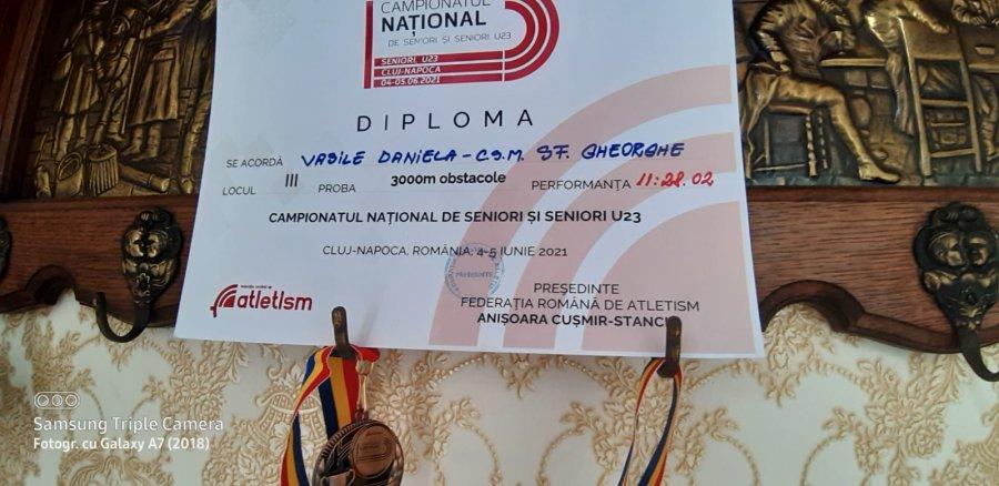 Rezultate excelente obținute de atletele Cristina Vasile Rutși Daniela Vasile