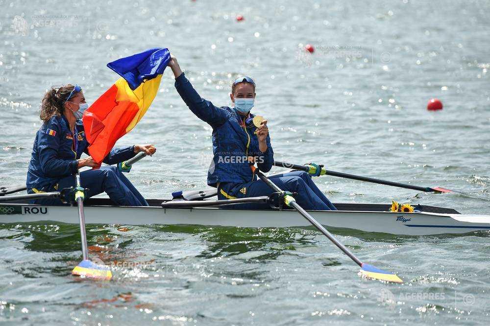 JO 2020 - Canotaj: România, medaliată cu aur la Tokyo în proba de dublu vâsle feminin