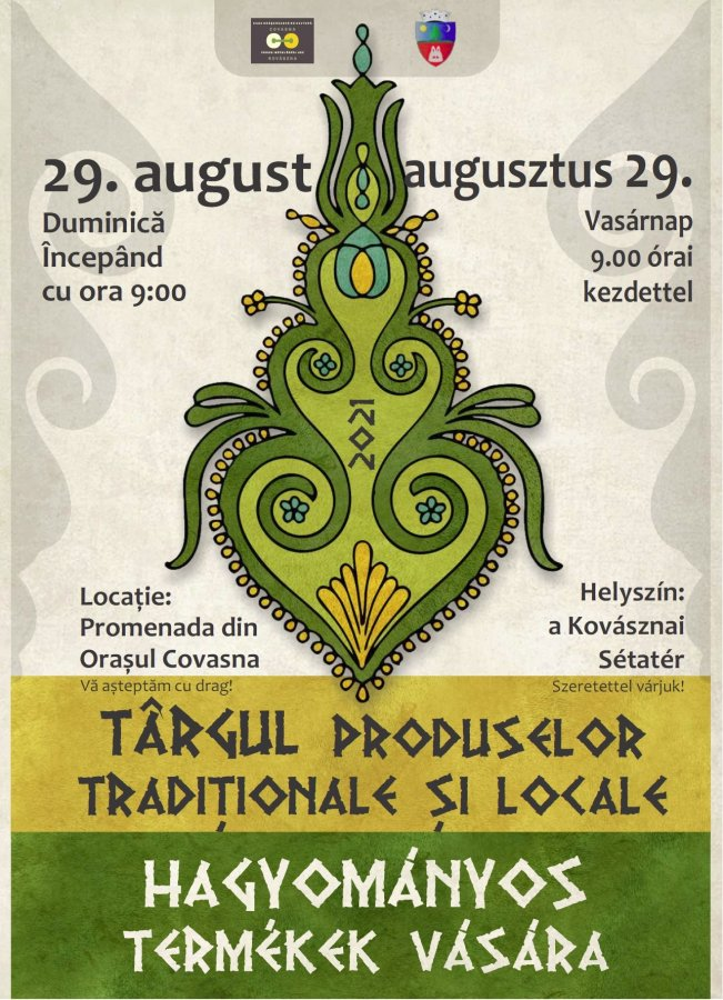 Târgul produselor tradiţionale şi locale la Covasna, duminică