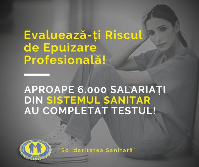 """""""Solidaritatea Sanitară'' a lansat prima aplicaţie de evaluare gratuită a riscului de epuizare profesională"""