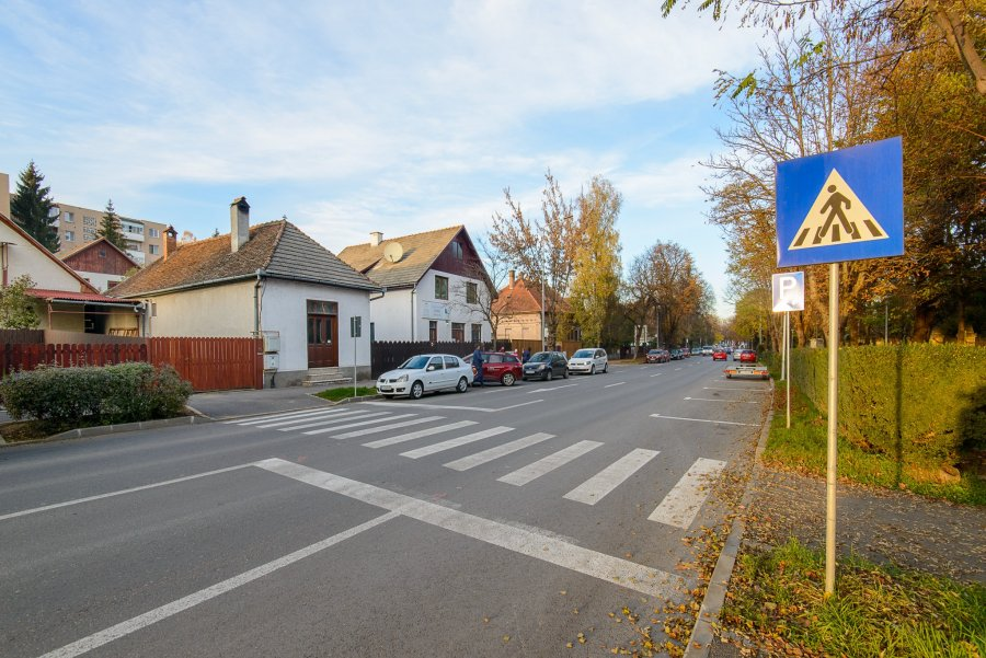 Au loc lucrări de vopsire a marcajelor rutiere pe străzile Kós Károly și Vasile Goldiș